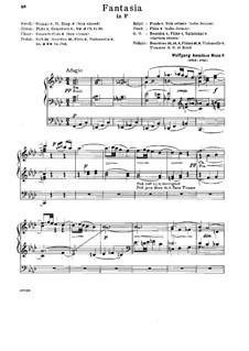 Fantasia for Mechanical Organ in F Minor, K.594: para um único musico (Editado por H. Bulow) by Wolfgang Amadeus Mozart