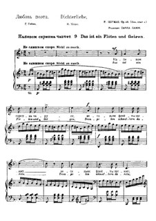 No.9 There is a Playing of Flutes and Violins: Partitura Piano-vocal by Robert Schumann