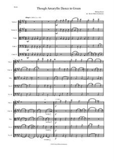 Though Amaryllis Dance in Green: Para quinteto de cordas by William Byrd