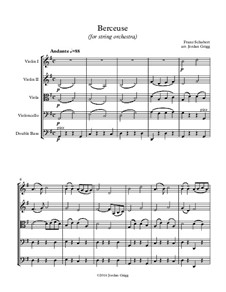 Wiegenlied (Cradle Song), D.498 Op.98 No.2: para orquetra de cordas by Franz Schubert