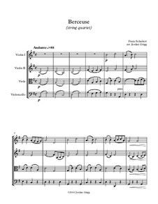 Wiegenlied (Cradle Song), D.498 Op.98 No.2: para quartetos de cordas by Franz Schubert
