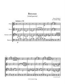 Wiegenlied (Cradle Song), D.498 Op.98 No.2: Para quarteto de sopro by Franz Schubert