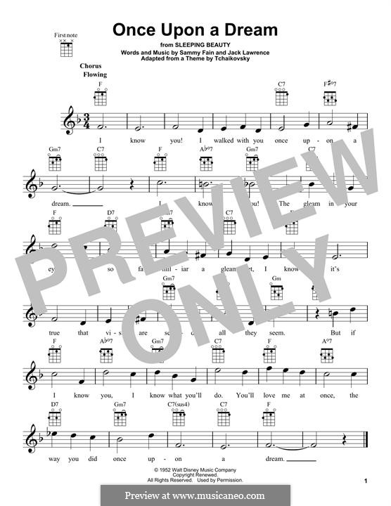 Once upon a Dream: para ukulele by Jack Lawrence, Sammy Fain