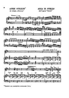 Otello: Aria di Otello by Gioacchino Rossini