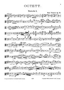 String Octet in C Major, Op.78: viola parte I by Ferdinand Thieriot