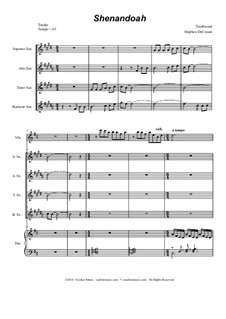 Shenandoah: para quarteto de saxofone by folklore