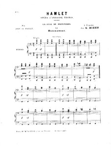 Hamlet: La fête du printemps. No.6 Bacchanale, for Piano Four Hands by Ambroise Thomas