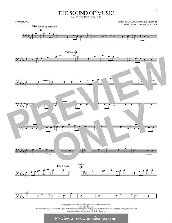 The Sound of Music: para trombone by Richard Rodgers