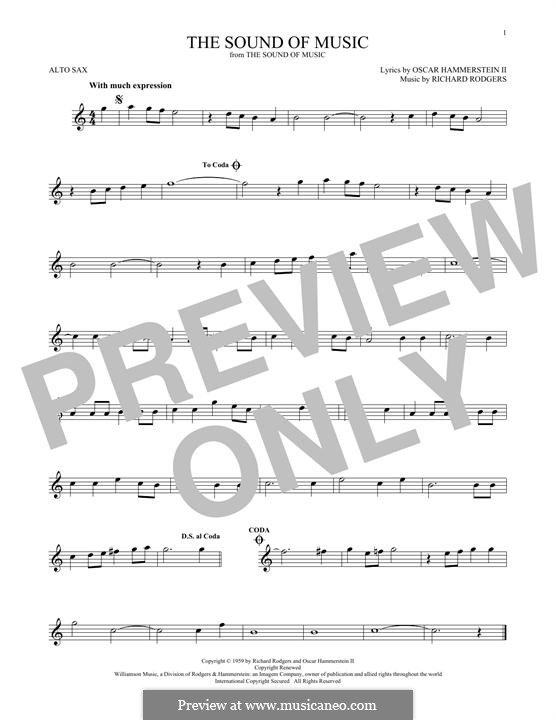 The Sound of Music: para Saxofone Alto by Richard Rodgers