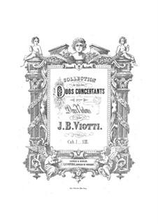 Three Serenades for Two Violins, Op.23: partes by Giovanni Battista Viotti