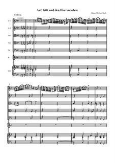 Auf, lasst und den Herren loben: Auf, lasst und den Herren loben by Johann Michael Bach