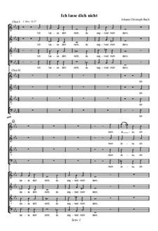 Ich lasse dich nicht, du segnest mich denn: Ich lasse dich nicht, du segnest mich denn by Johann Christoph Bach