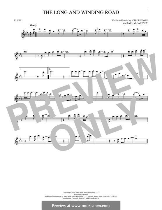 The Long and Winding Road (The Beatles): para flauta by John Lennon, Paul McCartney