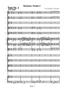 Modetta: Psalm 3: Modetta: Psalm 3 by Johann Christoph Kellner