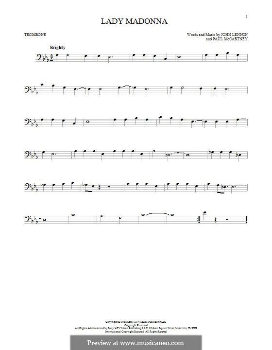 Lady Madonna (The Beatles): para trombone by John Lennon, Paul McCartney