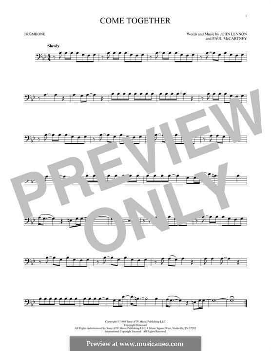Come Together (The Beatles): para trombone by John Lennon, Paul McCartney