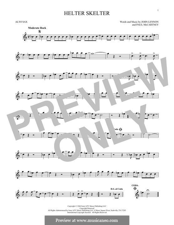 Helter Skelter (The Beatles): para Saxofone Alto by John Lennon, Paul McCartney