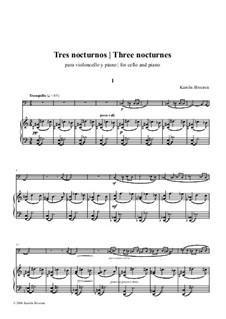 3 nocturnes: 3 nocturnes by Karolis Biveinis