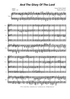 No.4 And the Glory, the Glory of the Lord: para quartetos de cordas by Georg Friedrich Händel
