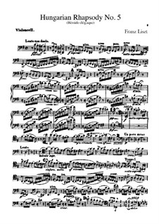 No.5 in E Minor, for Orchestra, S.621/5: parte violoncelo by Franz Liszt