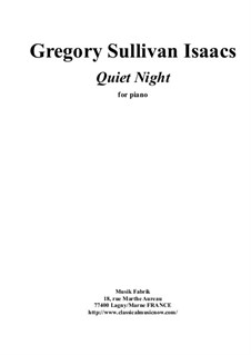 Quiet Night: Para piano solo by Gregory Sullivan Isaacs
