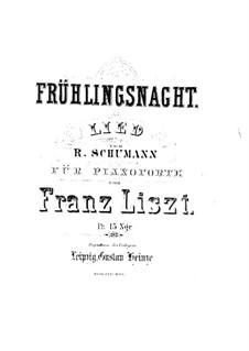 No.12 Frühlingsnacht (Spring Night): Para Piano by Robert Schumann