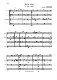 Robin Adair: para quarteto de flauta by Carroll O'Daly