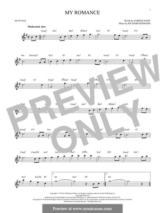 My Romance: para Saxofone Alto by Richard Rodgers