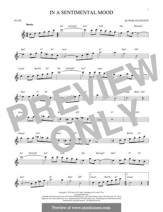 In a Sentimental Mood: para flauta by Irving Mills, Duke Ellington, Manny Kurtz