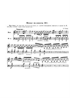 Sonata for Piano No.2 in C Major, Hob.XVI/7: Movement III. Version for french horn and piano by Joseph Haydn