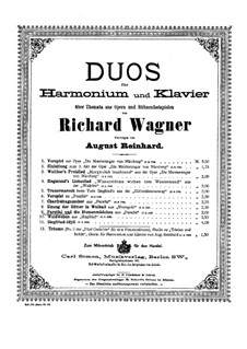 Parsifal and Flower Maidens: Para harmônica o e piano by Richard Wagner