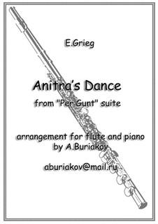 Suite No.1. Anitra's Dance, Op.46 No.3: para flauta e piano by Edvard Grieg