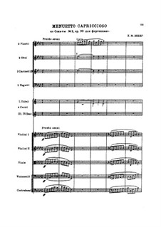 Sonata for Piano No.2 in A Flat Major, J.199 Op.39: Movement III, for orchestra by Carl Maria von Weber