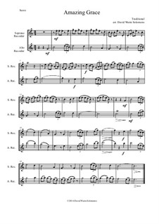 6 simple duets based on hymns: Complete set, for soprano recorder and alto recorder by folklore, Charles Hutchinson Gabriel, Phoebe Palmer Knapp, John Bacchus Dykes, Eugene Bartlett