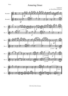 6 simple duets based on hymns: Complete set, for two alto recorders by folklore, Charles Hutchinson Gabriel, Phoebe Palmer Knapp, John Bacchus Dykes, Eugene Bartlett