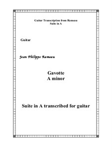 Suite in A Minor: Gavotte, for guitar by Jean-Philippe Rameau