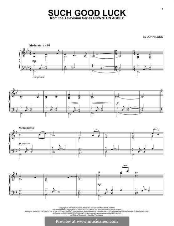 Such Good Luck: Para Piano by John Lunn