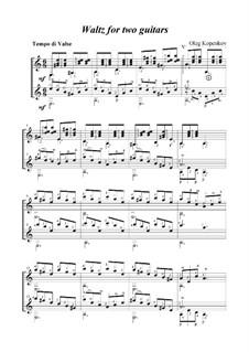 Waltz, Op.1: para duas guitarras by Oleg Kopenkov