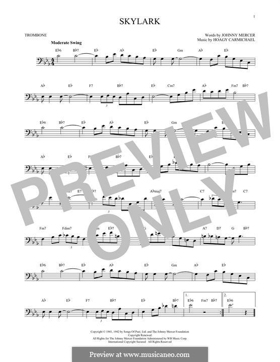 Skylark: para trombone by Hoagy Carmichael