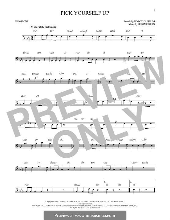 Pick Yourself Up: para trombone by Jerome Kern