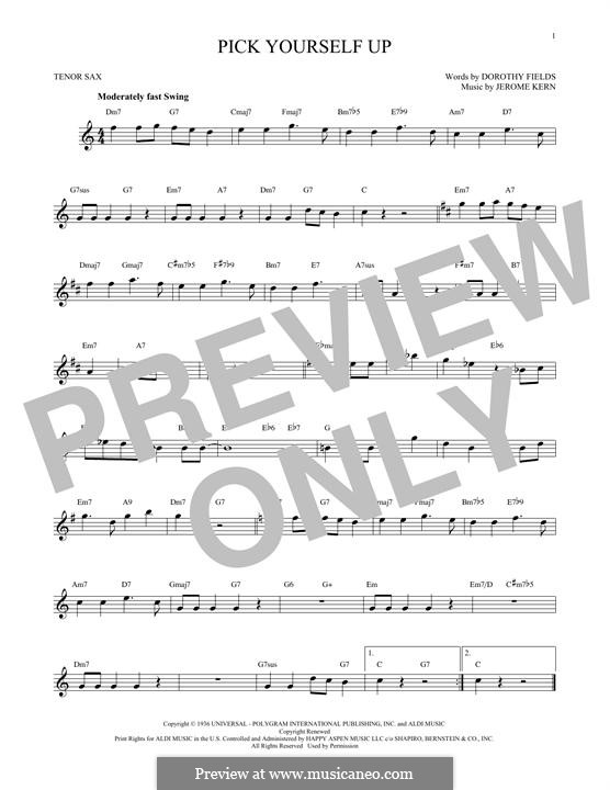 Pick Yourself Up: para saxofone tenor by Jerome Kern