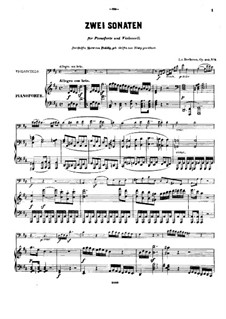 Sonata for Cello and Piano No.5 in D Major, Op.102 No.2: Score by Ludwig van Beethoven