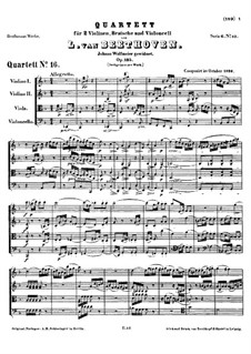 String Quartet No.16 in F Major, Op.135: Partitura completa by Ludwig van Beethoven