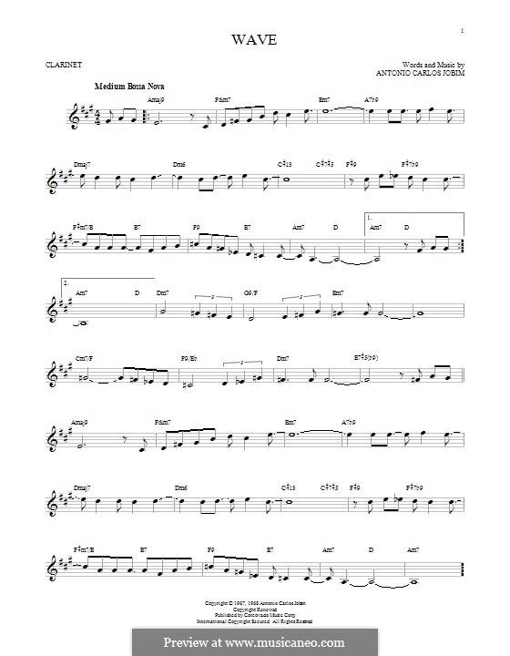 Wave: para clarinete by Antonio Carlos Jobim