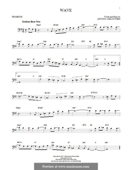 Wave: para trombone by Antonio Carlos Jobim
