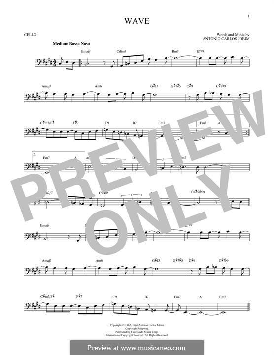 Wave: para violoncelo by Antonio Carlos Jobim