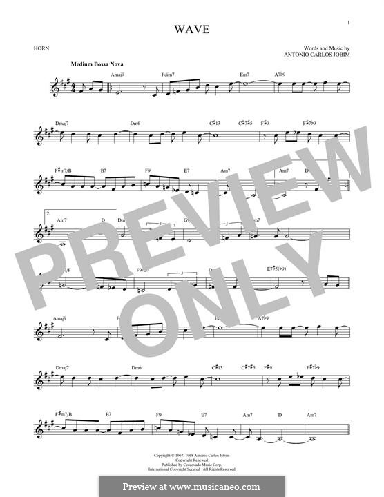 Wave: For horn by Antonio Carlos Jobim