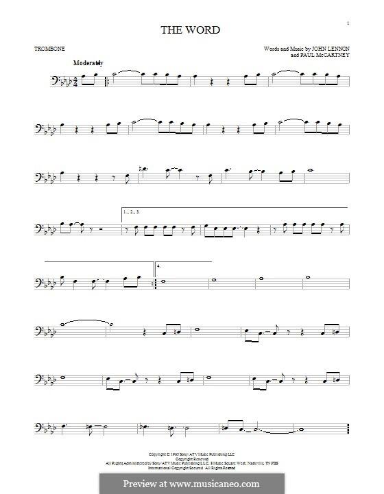 The Word (The Beatles): para trombone by John Lennon, Paul McCartney