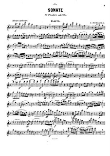 Sonata for French Horn and Piano, Op.17: Version for flute and piano – solo part by Ludwig van Beethoven