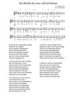 Bei dir, Jesu, will ich bleiben EG 406: Bei dir, Jesu, will ich bleiben EG 406 by Joachim Roller